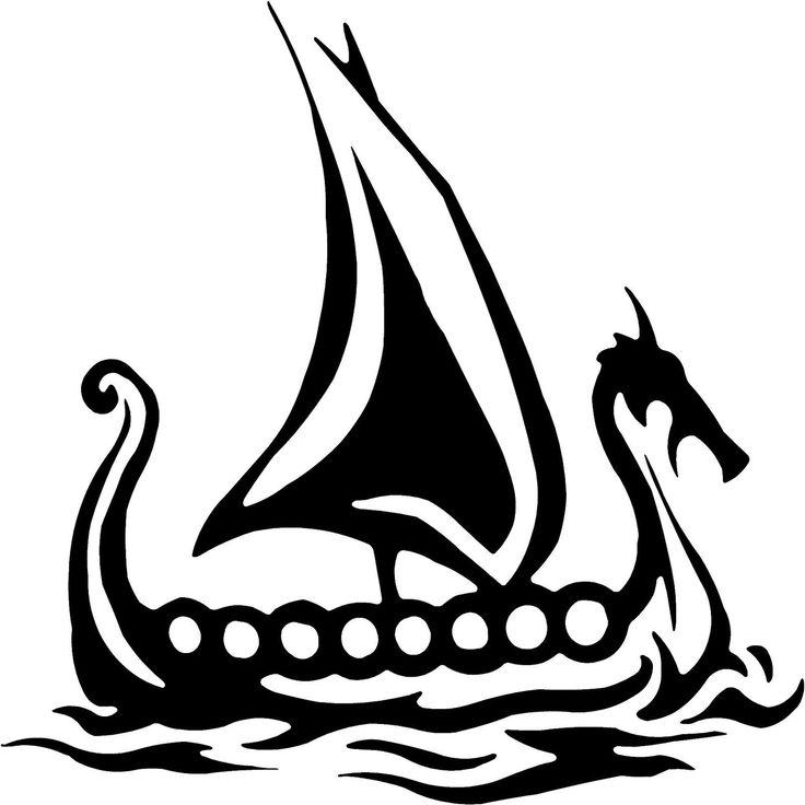 tiny viking ship tattoo.