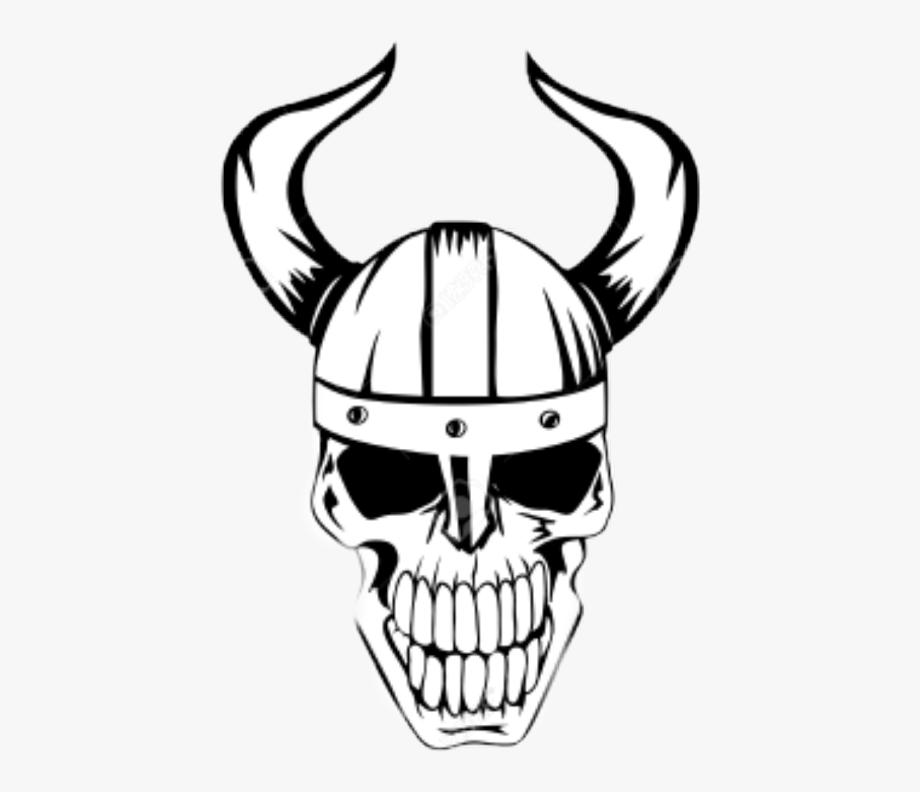 Viking Skull Vector Clipart , Png Download.