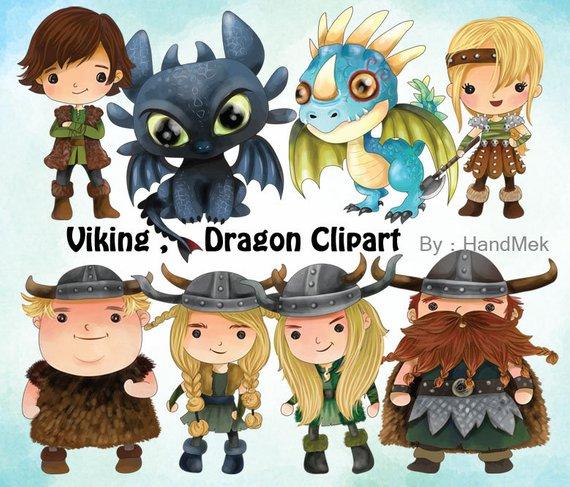Viking Clipart, Dragon Clip Art Set 1 Instant Download,PNG.
