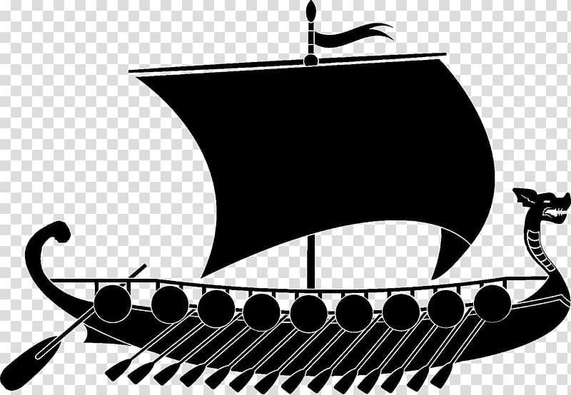 Viking ships graphics Illustration , VIKING SHIP transparent.