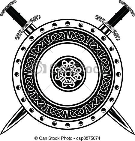 Viking shield clipart #15