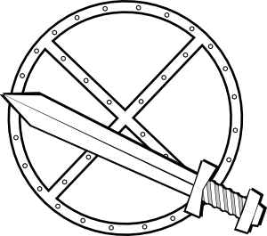 Jonadab Round Sword And Shield Clip Art at Clker.com.