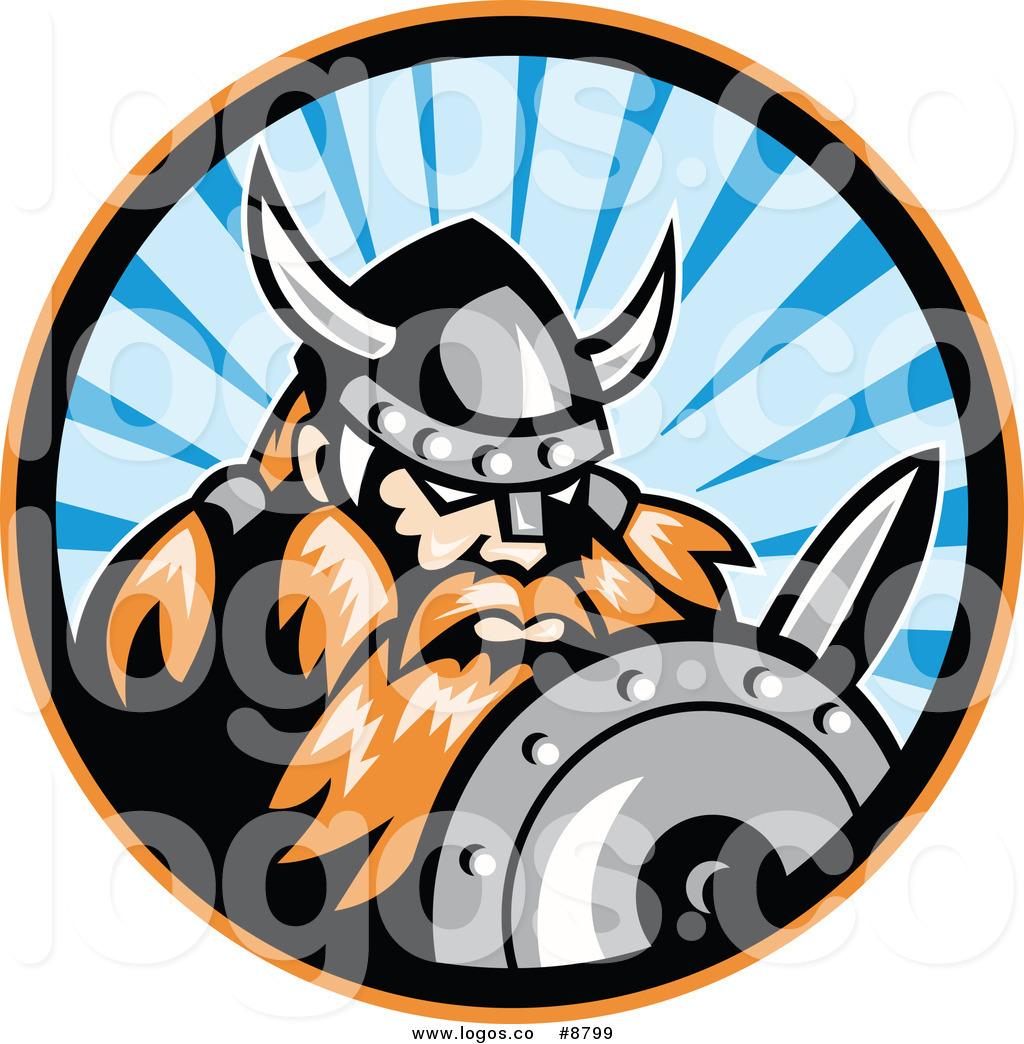 Royalty Free Clip Art Vector Raider Barbarian Viking Warrior.
