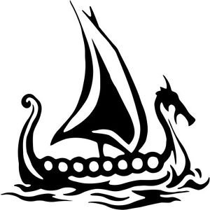 DF USA DECALS Viking Ship Norse Symbolic.