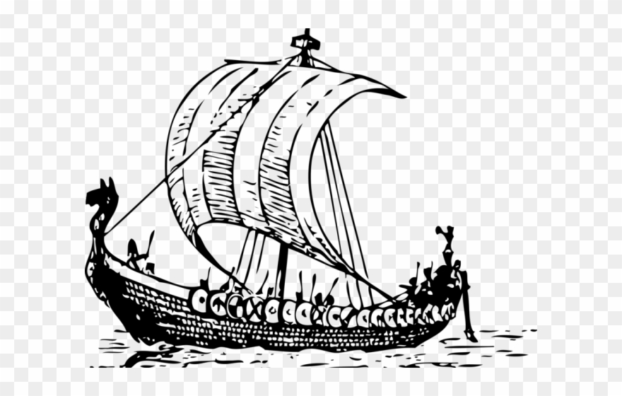 Viking Ship Clipart Sail.