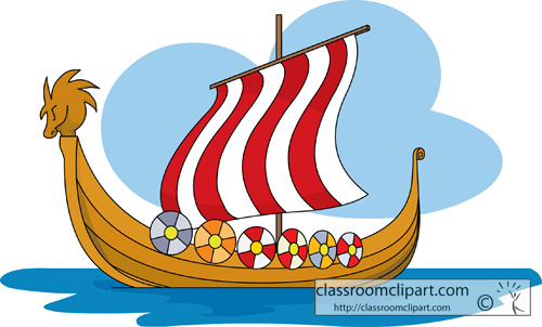 Viking Longboat Clipart.