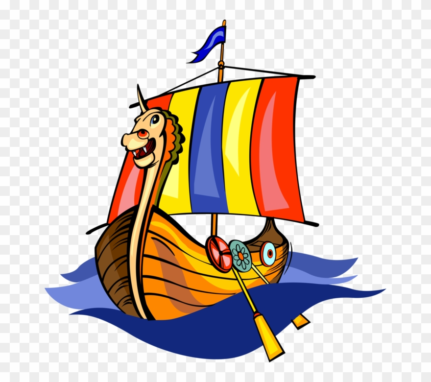 Viking Ship Clipart Dragon.