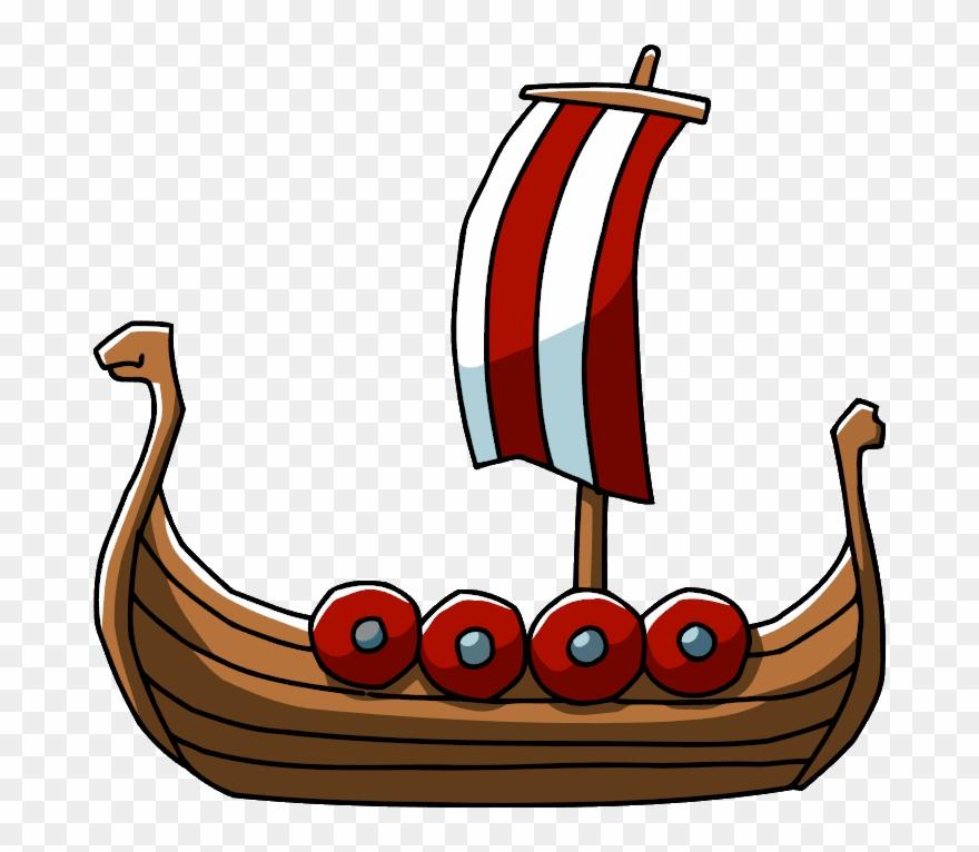 Viking Ship Clipart Cute.