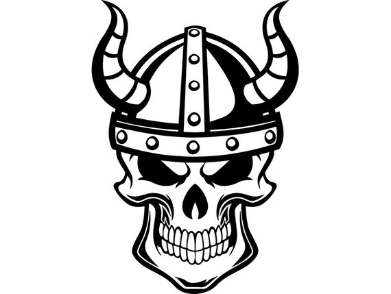 Viking Skull Vector at GetDrawings.com.