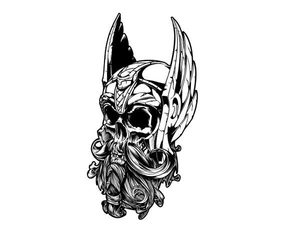 Viking, Skull, SVG,Graphics,Illustration,Vector,Logo,Digital.