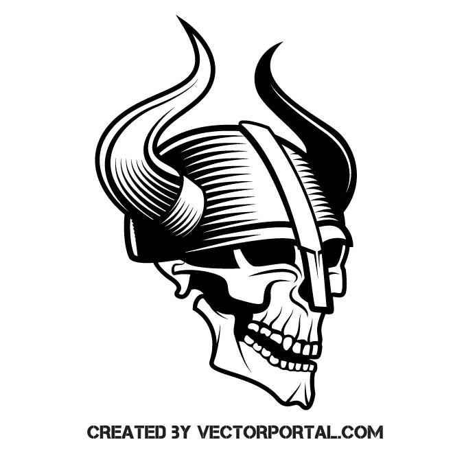 Viking skull.