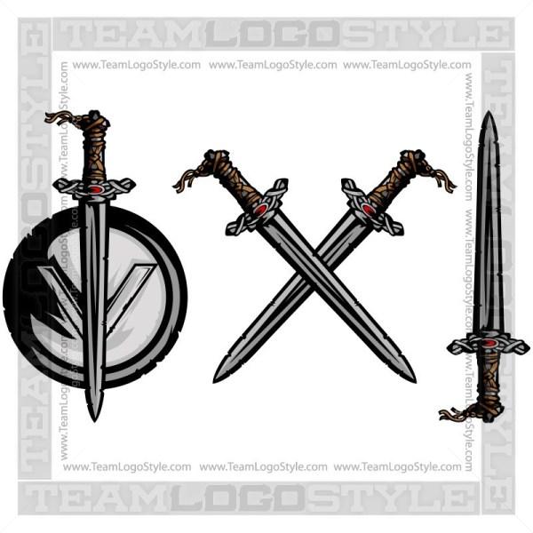 Vector Viking Sword.