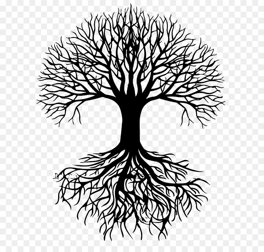Free Tree With Roots Silhouette Vector, Download Free Clip.