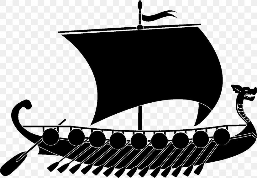 Viking Ships Vector Graphics Illustration Clip Art, PNG.