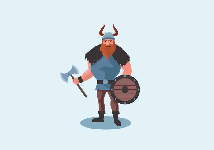 Viking Vector Illustration.