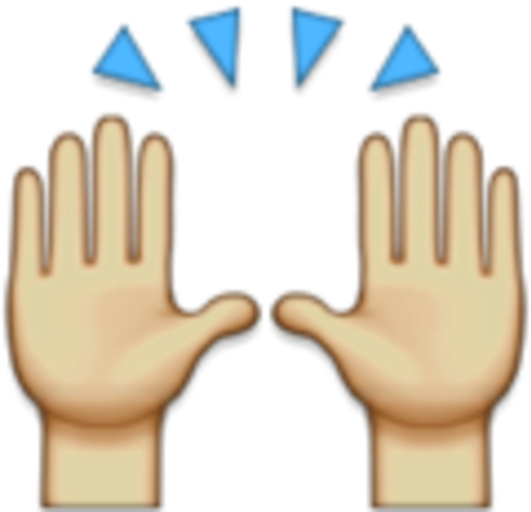 Emoji Hands Png Hands Raised Emoji Png.