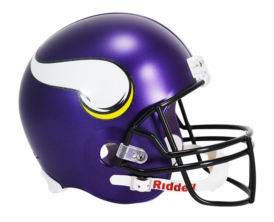 Riddell Deluxe Replica Helmet Vikings Helmet.