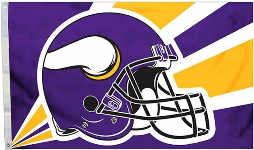 Minnesota Vikings 3 x 5 Flag Helmet Logo 12691.