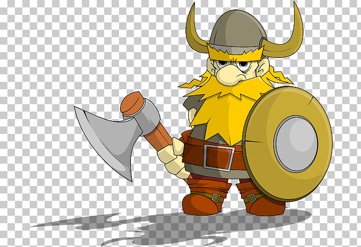 Viking , viking with axe and shield illustration PNG clipart.