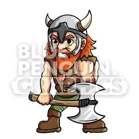 Grab your Troy Cool Viking Vector Cartoon Clipart.