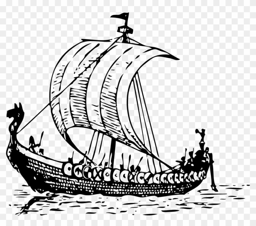 Viking Ship Clipart, Vector Clip Art Online, Royalty.
