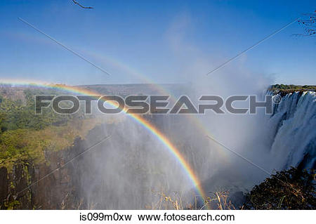 Picture of Rainbows over Victoria Falls is099m0xw.