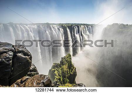 Stock Photo of Victoria Falls; Zimbabwe 12281744.