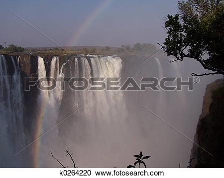 Stock Photography of victoria falls k0264220.