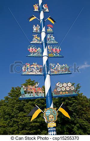 Bilder von bayerischer, münchen, traditionelle, Markt, Maibaum.