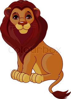 Løve, clipart, hale.