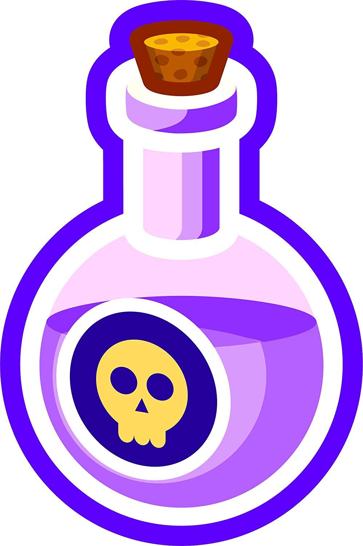 Amazon.com: Simple Death Poison Vial Flask Cartoon Emoji.
