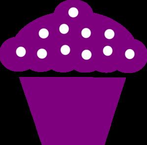 Cupcake Black Violeta Clip Art at Clker.com.
