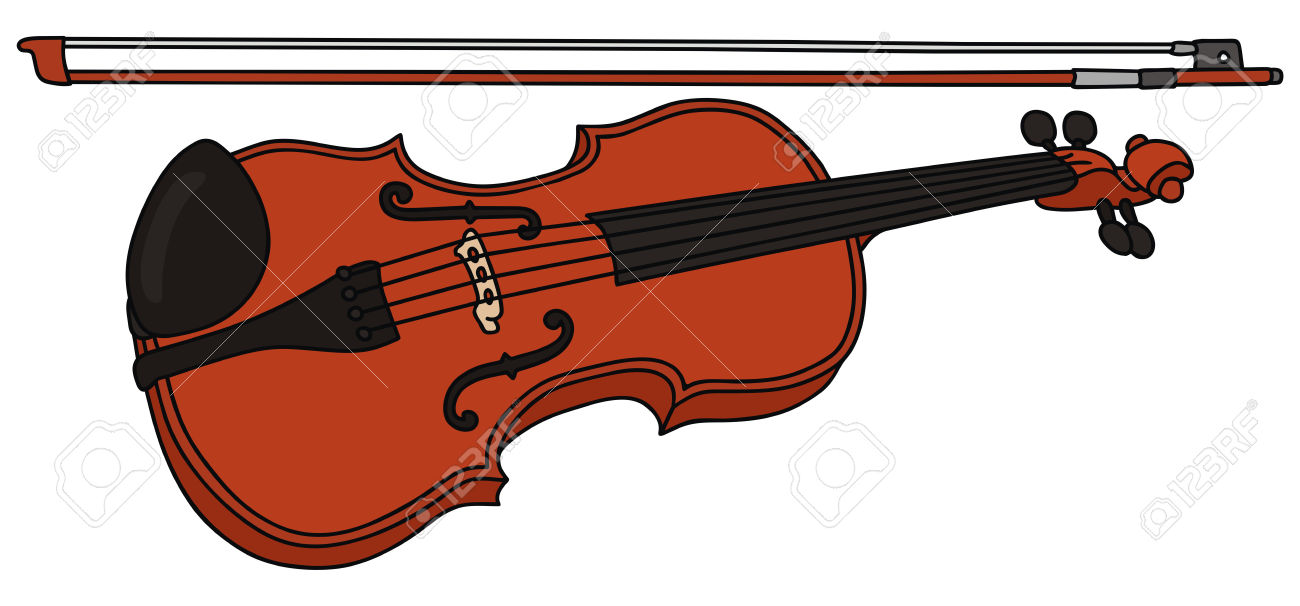 Hand Drawing Of A Violin Royalty Free Cliparts, Vectors, And Stock.