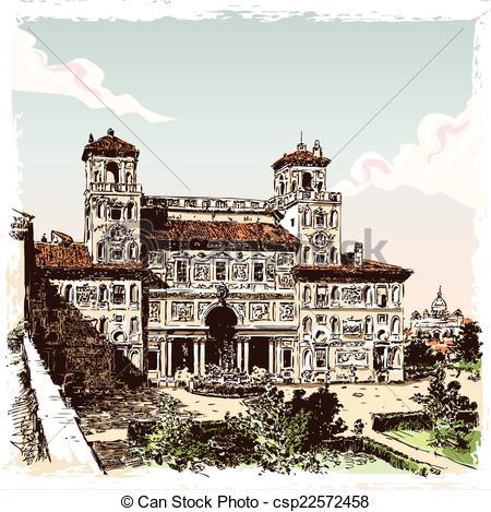 Villa borghese Vector Clip Art EPS Images. 4 Villa borghese.