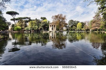 Villa Borghese Stock Photos, Royalty.
