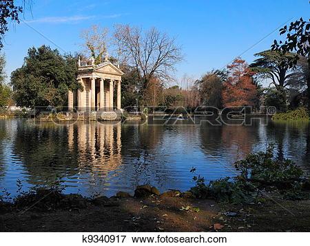 Picture of Villa Borghese Garden, Rome, Italy k9340917.