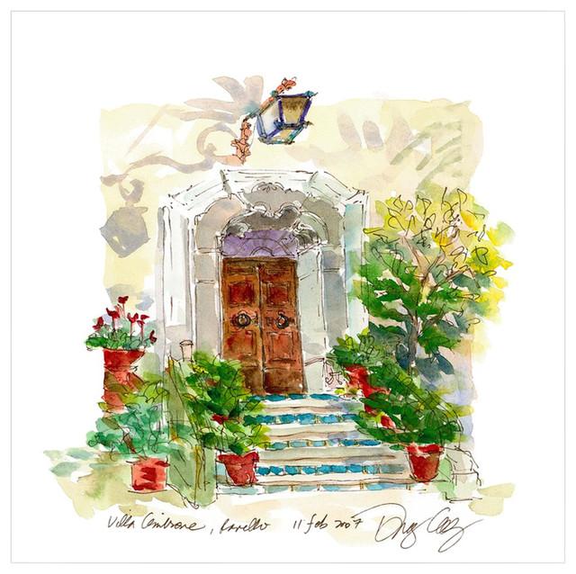 "Villa Cimbrone Door, Ravello"" Original Art."