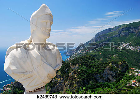 Pictures of Statue at Villa Cimbrone, Ravello, Italy. k2489748.