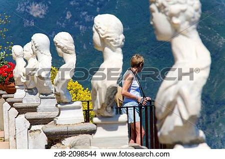 Stock Photo of villa cimbrone. Ravelo.italy zd8.