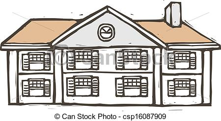 Vector Clipart of A villa is placed csp16087909.