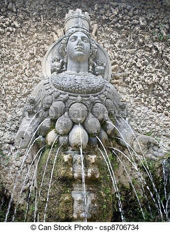 Stock Photo of goddess diana fountain.
