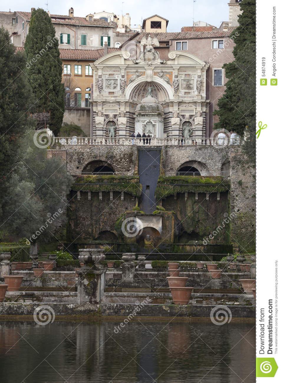 Organ Fountain (Fontana Dell Organo) Villa D Este, Tivoli. Italy.