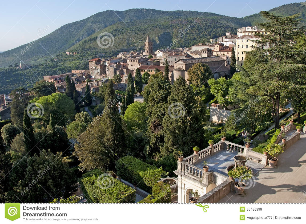 Tivoli, Villa D'Este Royalty Free Stock Photos.