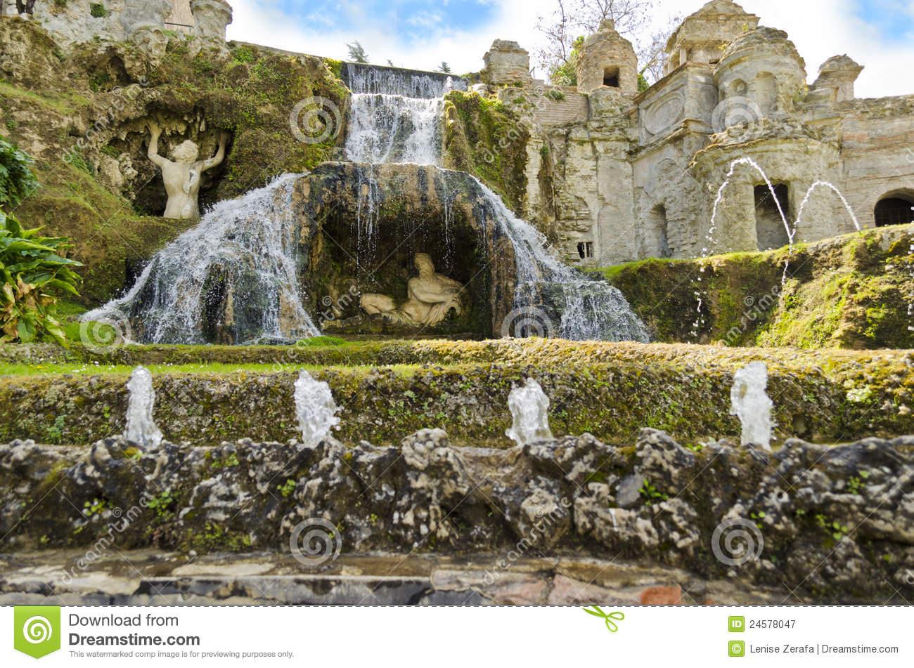 Gardens Of Villa D'Este In Tivoli.