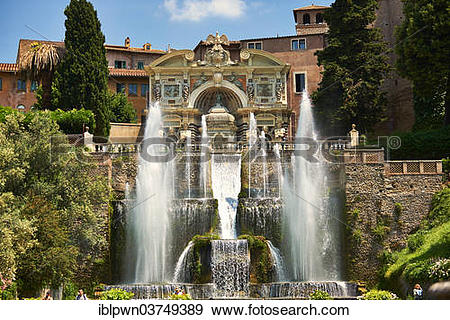 """Stock Photograph of """"The Organ Fountain, 1566, Villa d'Este."""