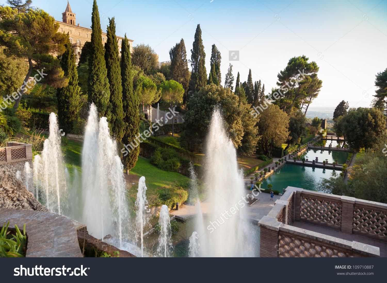 Villa Deste Fountain Garden Tivoli Italyrome Stock Photo 109710887.
