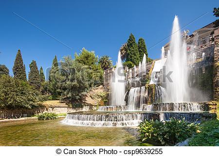 Stock Images of Villa d'Este, Roma.