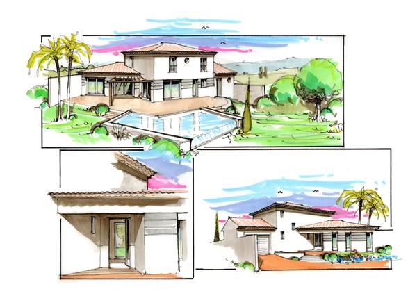 French models of villas.