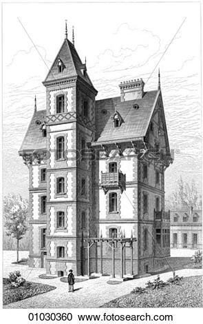 Stock Illustrations of Architecture.