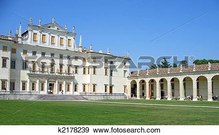 Stock Photograph of Villa Manin facade and porch k2178239.